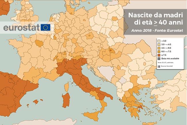 Eurostat. Mamme a 40 anni